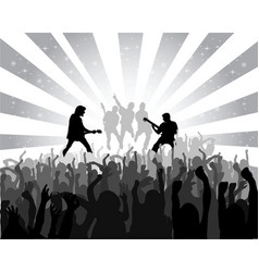 silhouette musical concert vector image