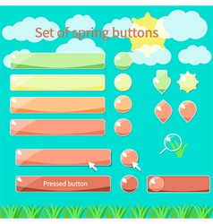 Spring buttons vector image vector image