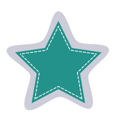 Sticker star shape frame callout dialogue vector