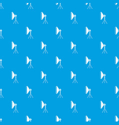 Studio lighting equipment pattern seamless blue vector