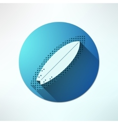 surfboard icon in modern flat design on vector image vector image