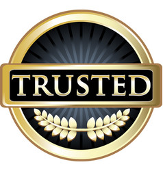 trusted gold icon vector image