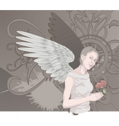 winged woman vector image vector image