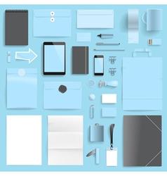 branding mockup blue retail vector image