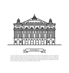 Grand Opera building vector image
