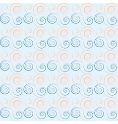 Seamless floral spiral pattern swirl twirl lines vector