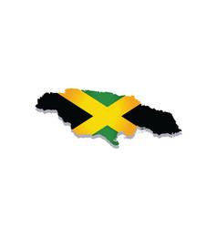Jamaica flag amp map vector