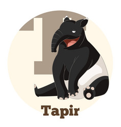 Abc cartoon tapir vector
