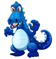 A scary blue crocodile vector image