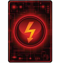 energy sign microchip vector image