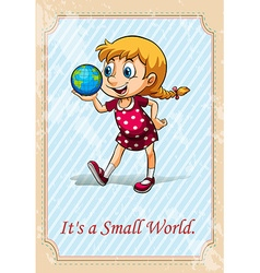 It is a small world vector