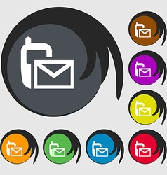 Mail icon envelope symbol message sms sign symbols vector
