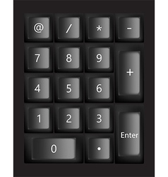 Black keyboard vector