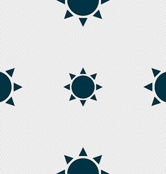 Sun icon sign seamless pattern with geometric vector