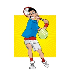 Angry tennis player vector