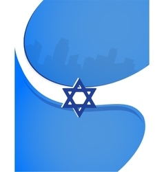 Israel independence day poster design vector