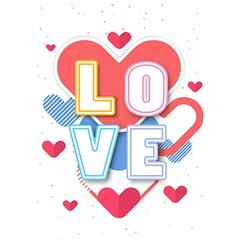 Heart valentine background design vector
