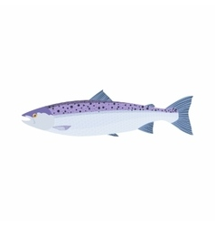 Fish trout icon cartoon style vector