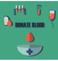 Blood donation medicine help hospital save life vector