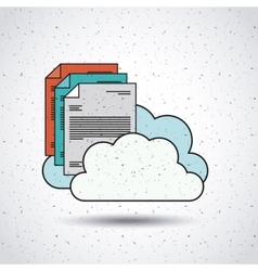 Text document with clouds isolated icon design vector