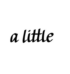 a little words written is cursive vector image vector image