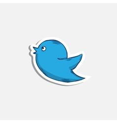 blue bird iconsticker vector image vector image
