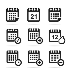 Calendar an icon vector