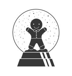 Christmas crystal globe vector
