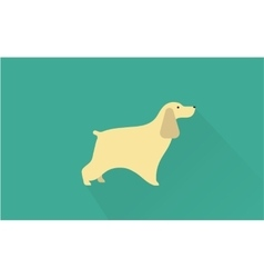 Cocker spaniel icon vector