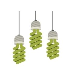 Colorful hanging modern light bulb on vector