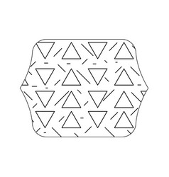 Edge quadrate with geometric graphic memphis vector