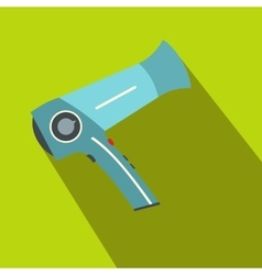 Hairdryer flat icon with shadow vector