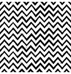 Hand drawn black and white chevron repeat pattern vector