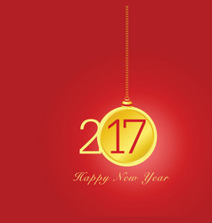 Happy new year 2017 with christmas ball in vector