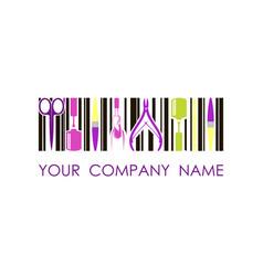 logo for nail design company concept vector image