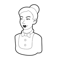 Maid icon outline style vector