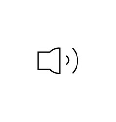 medium volume button icon vector image