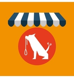 Pet shop with dog training vector