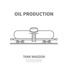 Railway tank waggon in linear style vector