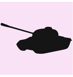 tank isolated vector image