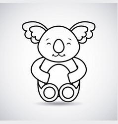 Tender cute koala bear card icon vector