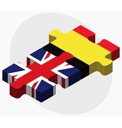 United kingdom and belgium flags vector