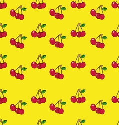 Cherry background vector