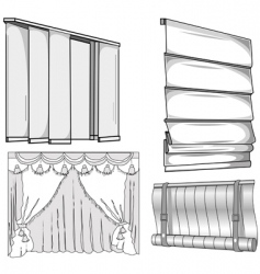 Curtains jalousie vector