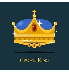 Golden monarch or king crown pope triada vector