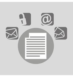 document bubble speech social media vector image