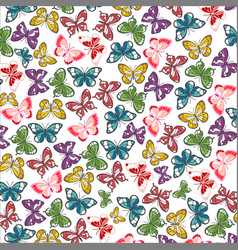 butterfly wallpaper vector image