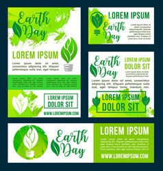 earth day green nature environment design vector image