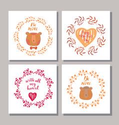 Set of valentine cards vector
