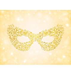 Beautiful silhouette golden mask on the background vector